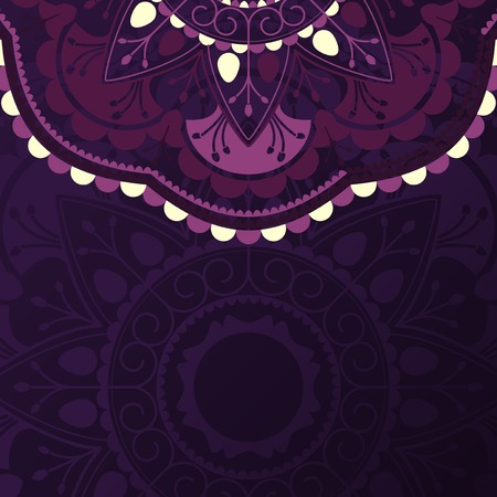 Purple mandala pattern on black background