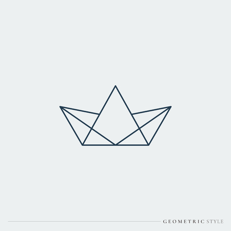 Luxurious geometric crown design vector