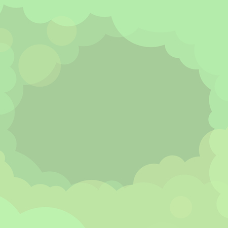 Abstract green cloudy background vector