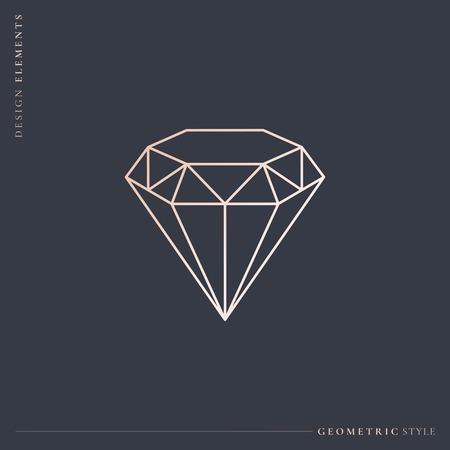 Linear geometric diamond design vector Stockfoto - 123216647