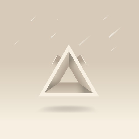 Abstract geometric triangle shape vector Ilustrace
