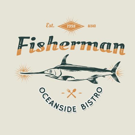 Seafood restaurant vintage logo vector Logo