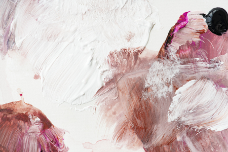 Colorful acrylic brush stroke background vector Фото со стока