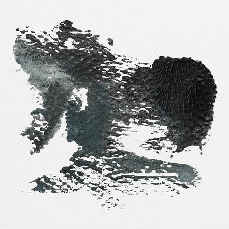 Black and gray brush stroke vector Stock Photo