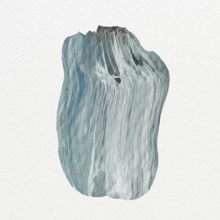 Blue acrylic brush stroke vector Фото со стока