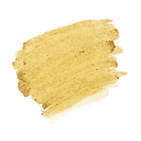 Feestelijke glanzende gouden penseelstreek Stockfoto