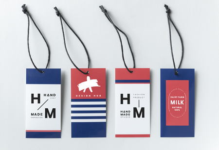 Marine inspired fashion tags mockup