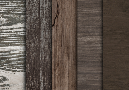 Wooden floorboard samples textured background Archivio Fotografico