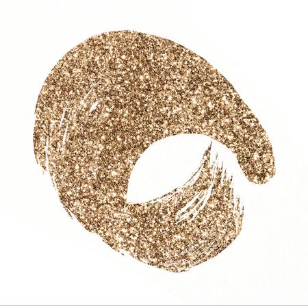 Festive shimmery golden brown stroke