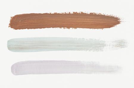 Colorful brush stroke background vector