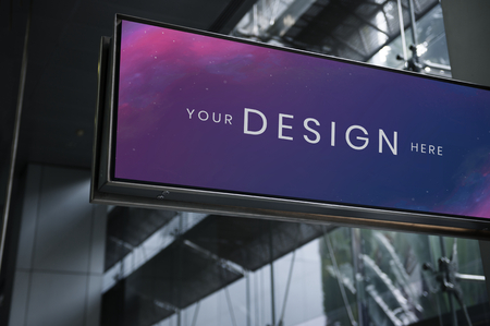 Rectangle signage mockup at an airport Banque d'images - 123589730