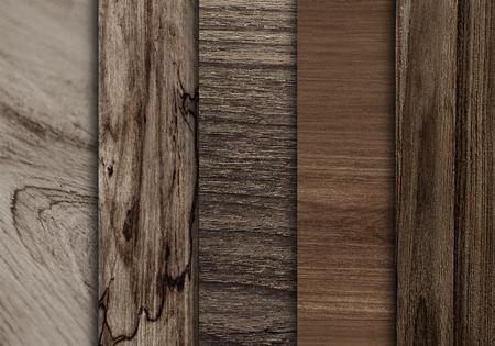 Wooden floorboard samples textured background Stock Photo