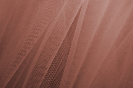 Brown tulle drapery textured background