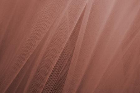 Fondo de textura de cortinas de tul marrón