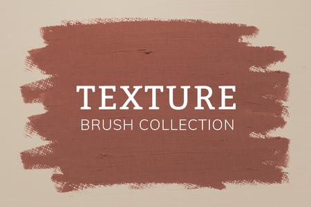 Orangish brown oil paint brush stroke texture on a plain brown background Reklamní fotografie
