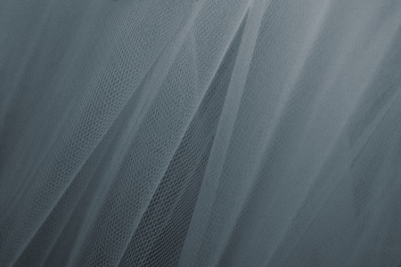 Bluish gray tulle drapery textured background Stock Photo - 123522010