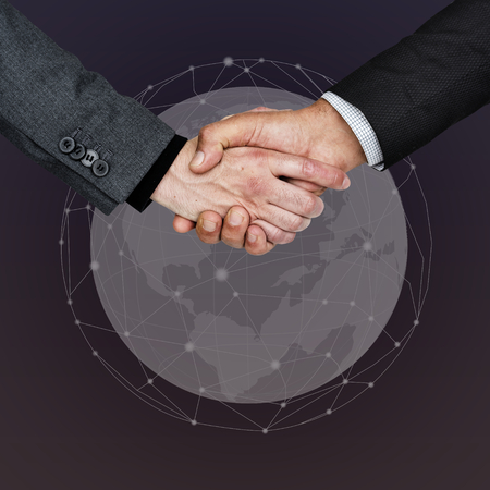 Business people shaking their hands Imagens