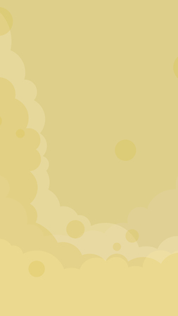 Abstract yellow cloudy background vector