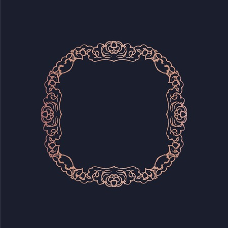 Baroque style ornament frame illustration