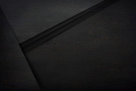 Black wooden layers textured background vector