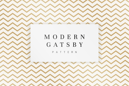 Modern gatsby pattern design vector Ilustração Vetorial