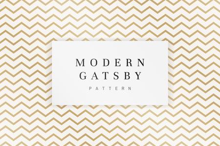 Vettore moderno di disegno del modello di gatsby Vettoriali
