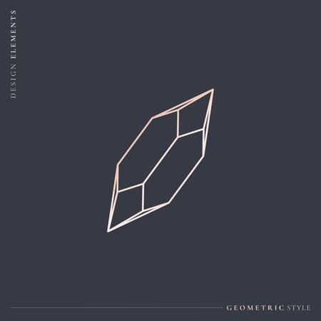 Linear geometric diamond design vector Stockfoto - 123763783