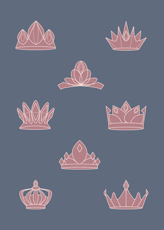 Luxurious royal crown designs vector collection Imagens - 123763782