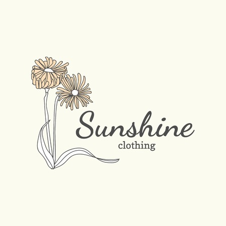 Floral sunshine clothing vector