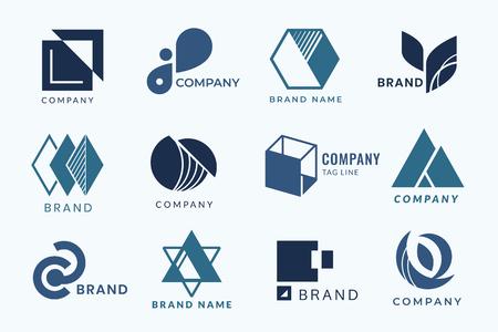 Company branding logo designs vector collection 向量圖像