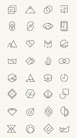 Minimal brand design collection, vector illustration