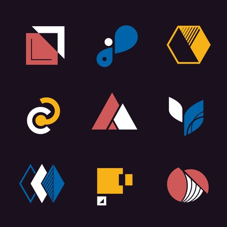 Company branding designs vector collection