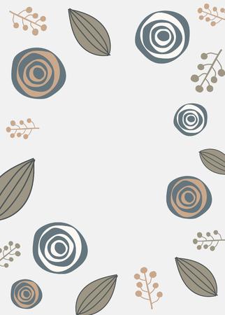 Natural patterned doodle background vector Ilustração