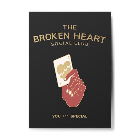 The broken heart social club vector