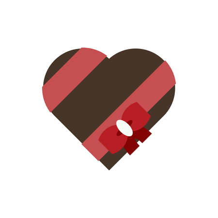 Heart shaped chocolate box for Valentine's day vector Ilustração