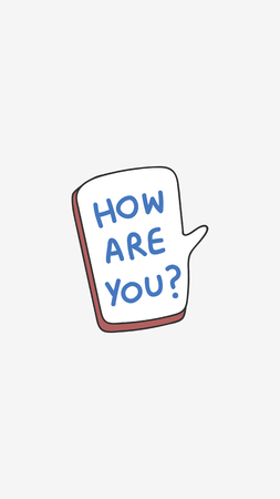 How are you greeting speech bubble vector  イラスト・ベクター素材