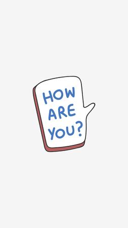 How are you greeting speech bubble vector Ilustração