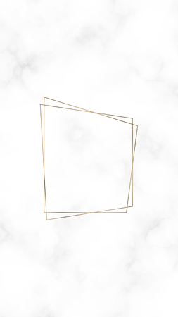 Golden rhombus frame template vector