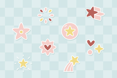 Colorful star collection on a blue background vector Ilustrace