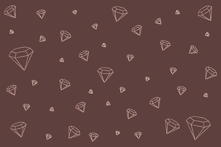 Geometric diamond design wallpaper vector