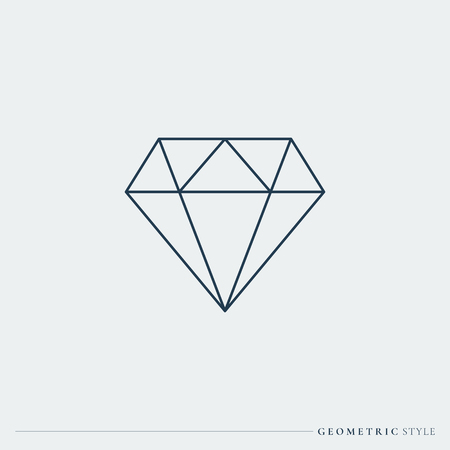 Linear geometric diamond design vector Stock Illustratie