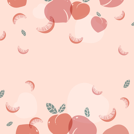 Peach patterned background with design space vector Ilustração