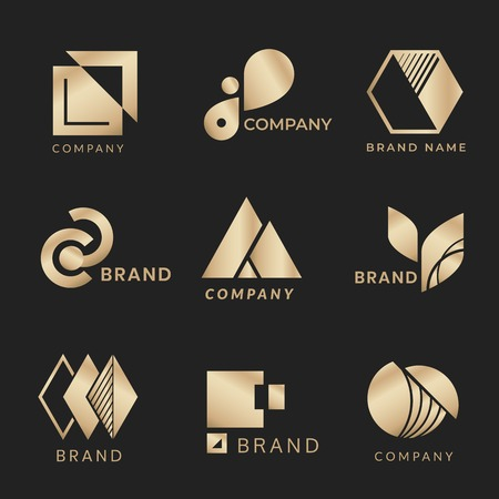 Company branding designs vector collection