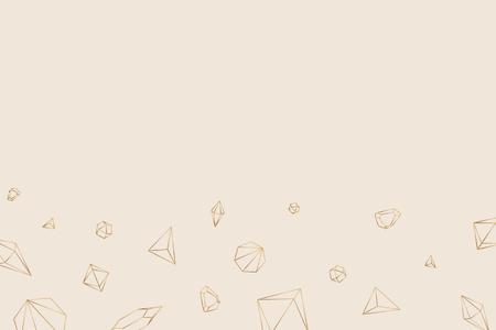 Geometric diamond design wallpaper vector