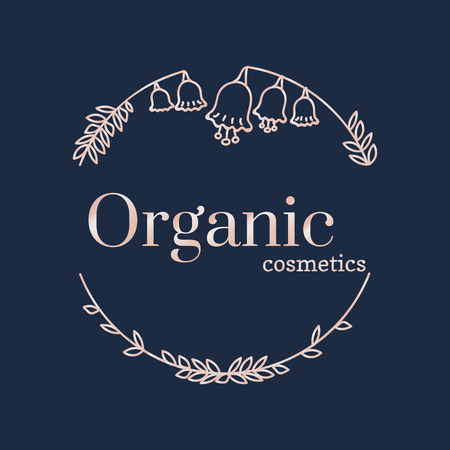 Floral organic cosmetics vector Illustration