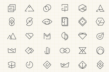 Minimal brand design collection vectors