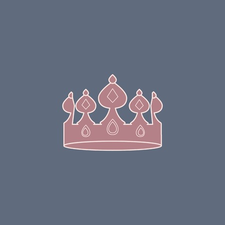 Pink luxurious crown design vector Иллюстрация