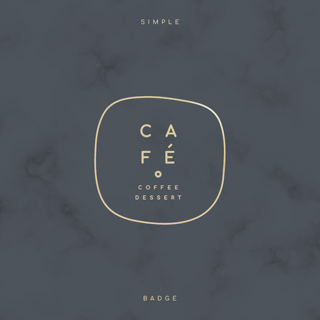 Simple cafe badge on a marble background vector 向量圖像