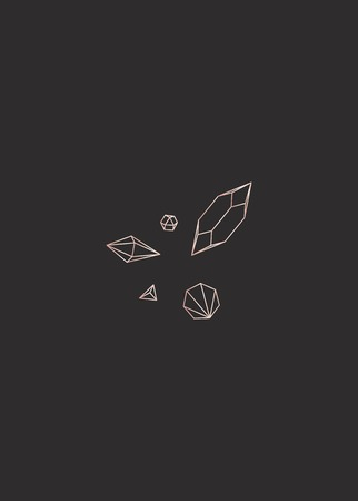 Linear geometric diamond design vector Stock Illustratie