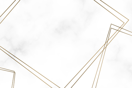 Golden square frame template vector 矢量图像